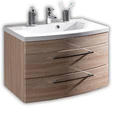 Waschtisch Mit Unterschrank 82cm Rimao 02 In Sonoma Eiche