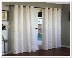 white sliding glass door curtains