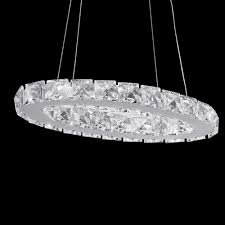 1 ring crystal led pendant light ceiling lamp galaxy chandelier lighting fixture