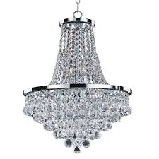 glow lighting vista 8 light faceted crystal ball and chrome chandelier