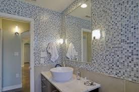 blue mosaic tropical bathroom