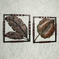 image gallery leaf metal wall decor