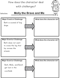 great to use when describing how a character responds to major events or challenges in a story second grade ccss rl