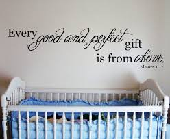image of scripture wall decals for nursery