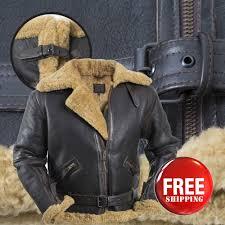 men s aviator raf b3 ginger original sheepskin leather er flying jacket