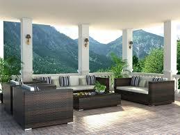 image of modern wicker furniture cushions