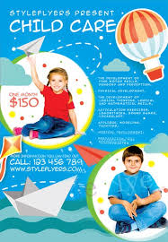 Child Care Free Flyer Template Download For Photoshop
