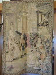 large vintage victorian tapestry wall