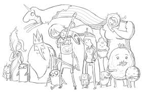 Small Picture Printable Adventure Time Coloring Pages Cartoon Coloring pages