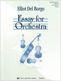 essay for orchestra by elliot del borgo j w pepper sheet music essay for orchestra