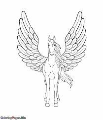 Survival Unicorn With Wings Coloring Pages Beautiful Pegasus Page