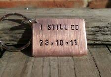 copper keyring i still do 7th anniversary gifts husband wife personalised 7 year