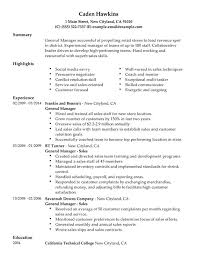 General Resume Simple Unforgettable General Manager Resume Examples To Stand Out