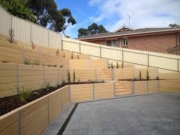 sleeper retaining walls modern