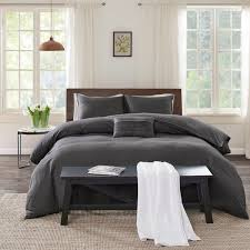 echo design montauk grey cotton duvet cover mini set free today com 19407373