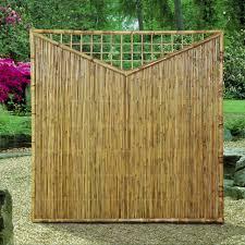 Sichtschutzwand Bambus Sichtschutzelement Zen Dreieck