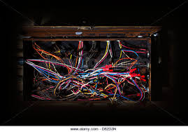 old fuse box stock photos old fuse box stock images alamy old fuse box mess of wires cables colored coded running in crazy directions in haphazard