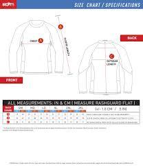 Storm L S Rashguard Compression Fit Size Chart Storm Kimonos