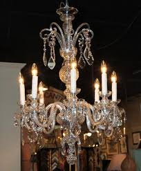 antique 8 arm crystal chandelier