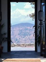 looking out door. Pokhara India Front Door Of Lodge Looking Out To The Terrace Georgian Dublin Ireland For Brass A