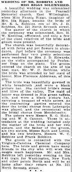 Fannie Riggs & Enoch Robbins Marriage - Newspapers.com