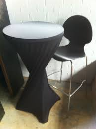 black bar stool black bar sock on standard bar table