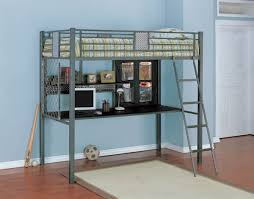 Metal Loft Bed: Great Solutions for Small Space | Modern Wall ...