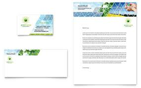 Green Card Template Green Energy Consultant Business Card Letterhead Template Design