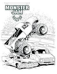 Pages A Colorier Monster Trucks Free Monster Truck Coloring Pages