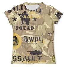 "Футболка с полной запечаткой (мужская) ""Military"" #2641199 от ..."