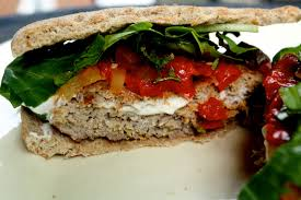 Image result for Patties stuffed with goat cheese