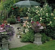 english garden design. Retrieve English Garden Design With Urns And Outdoor Furniture Picture A