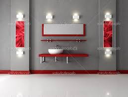 Red And White Bathroom Decor Dark Floating Vanity With Sinks Black ...