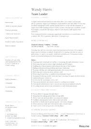 Team Lead Resume Cool Resume Sample For Warehouse Team Leader Combined With Warehouse Lead