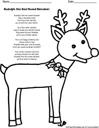 Small Picture Rudolph The Red Nosed Reindeer Coloring Page Free Printable