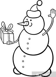 Sticker Kerst Sneeuwpop Kleurplaat Pixers We Leven Om Te Veranderen