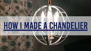 how i made a diy chandelier dining room makeover part 1