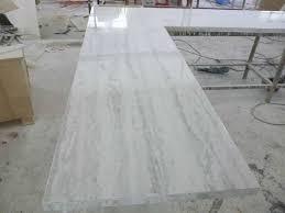 image of white quartzite countertops staining