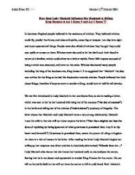 how does lady macbeth influence her husband to killing king duncan page 1 zoom in