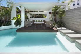 Custom Pool Area Outdoor Lounge Patio Interior Design Ideas