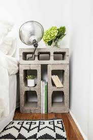 cinder block nightstand diy room projects that your house cannot be awesome without
