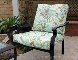 no sew project how to recover your outdoor cushions using fabric and a glue