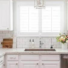 white tile kitchen countertops. White Granite Kitchen Countertops With Subway Tile Backsplash