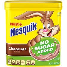 nestle nesquik no sugar added chocolate flavored powder 16 oz