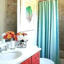pottery barn kids shower curtains kids bathroom curtains turquoise curtains for bathroom kids bathroom with turquoise gingham shower curtain and red kids