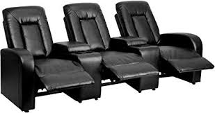 inexpensive home theater seating. Flash Furniture 3-Seat Black Leather Home Theater Recliner With Storage Consoles Inexpensive Seating
