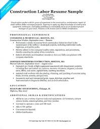 maintenance worker resume building maintenance job resume worker sample from construction