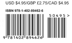 where are barcodes to be printed on books