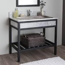 Bathroom Vanity Base Cuzco Bathroom Vanity Base With Carrara Marble Native Trails