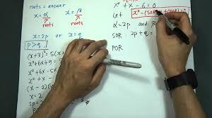 spm add maths form 4 quadratic equation roots alfa and beta you